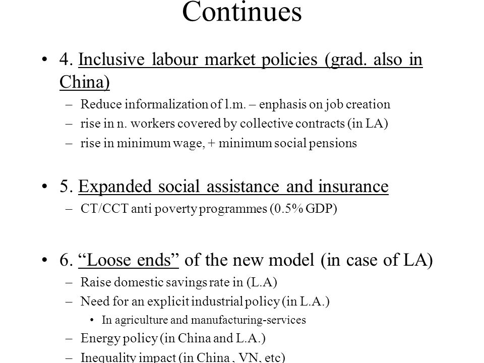 Continues 4. Inclusive labour market policies (grad.