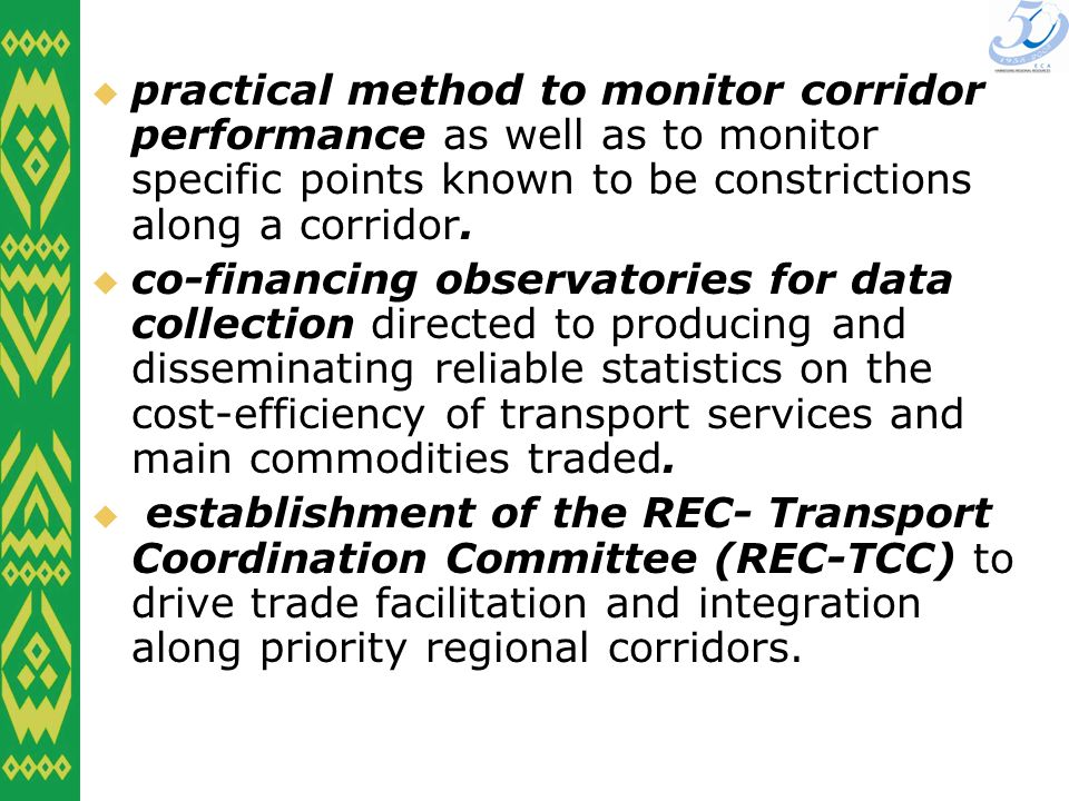 practical method to monitor corridor performance as well as to monitor specific points known to be constrictions along a corridor.