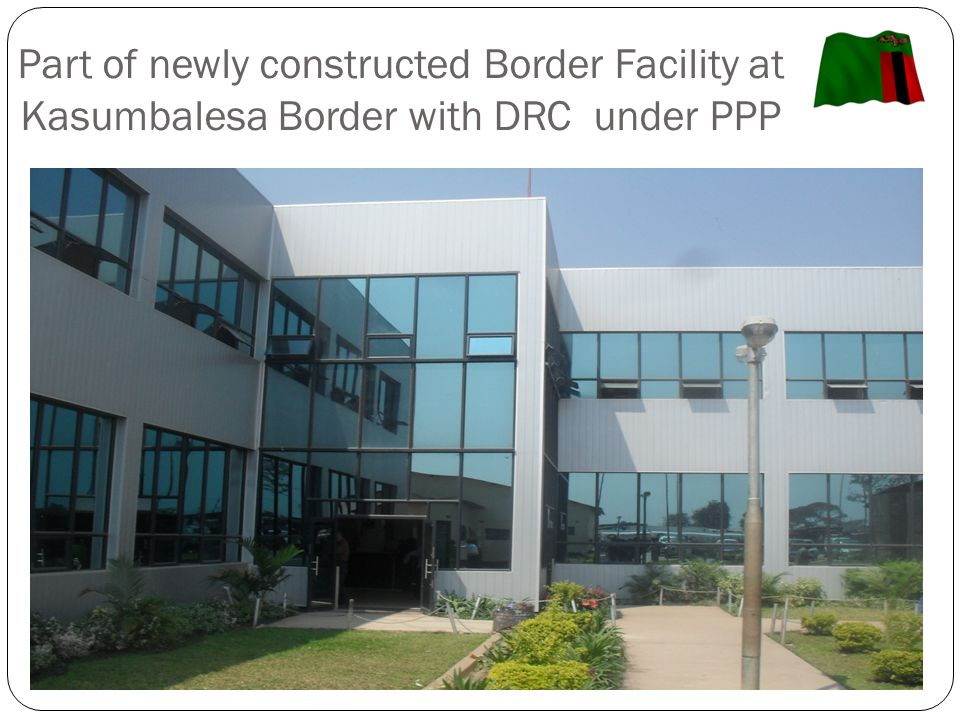 Part of newly constructed Border Facility at Kasumbalesa Border with DRC under PPP