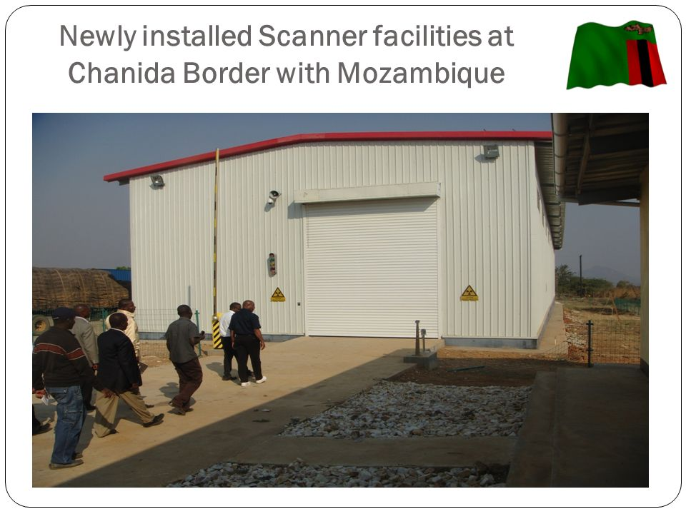 Newly installed Scanner facilities at Chanida Border with Mozambique