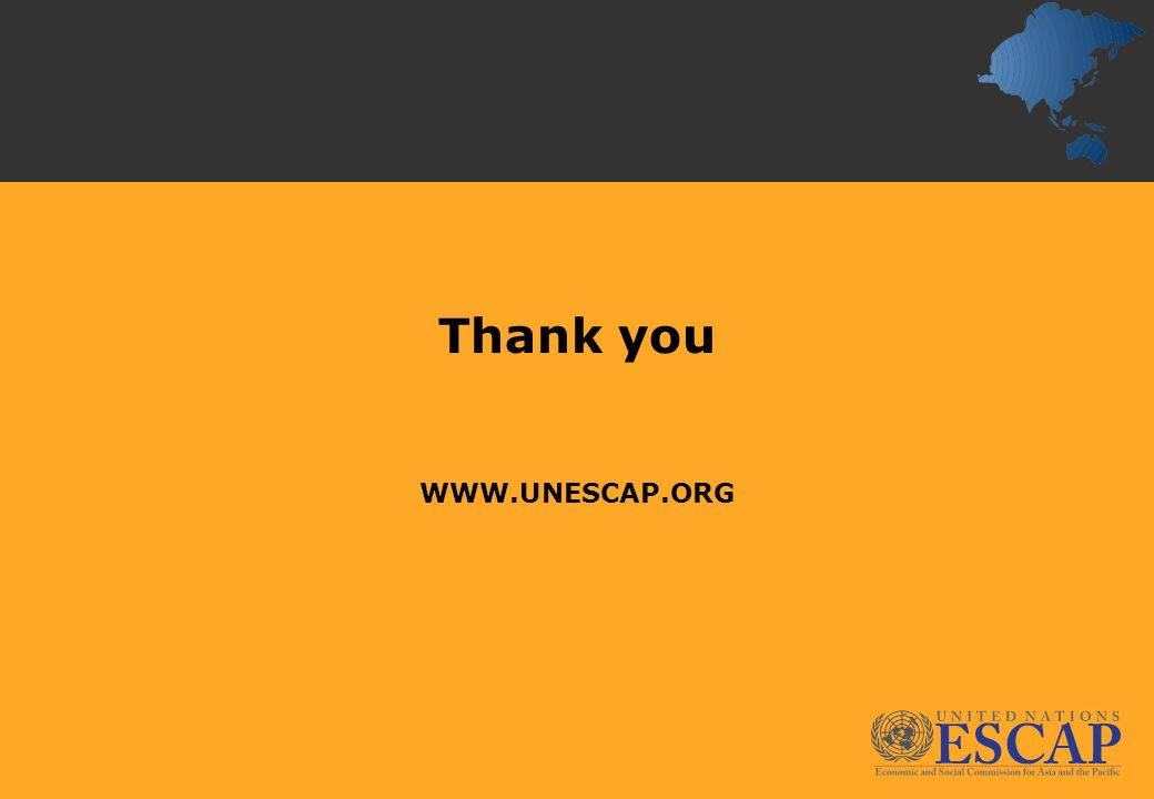 Thank you WWW.UNESCAP.ORG