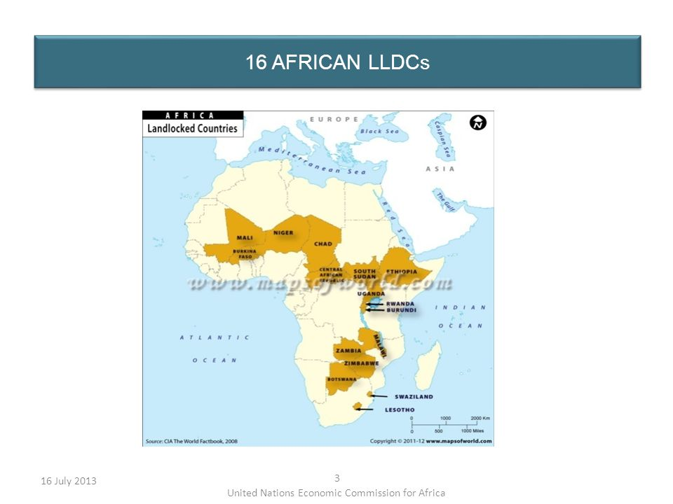 16 AFRICAN LLDCs 16 July United Nations Economic Commission for Africa