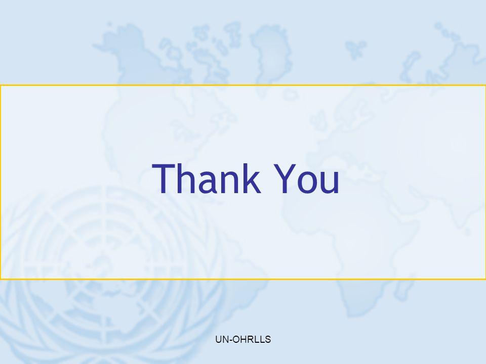UN-OHRLLS Thank You