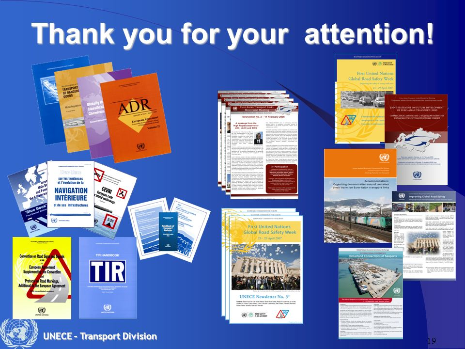 19 UNECE – Transport Division Thank you for your attention!