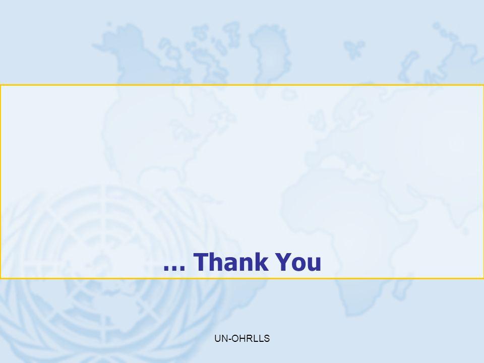 UN-OHRLLS … Thank You