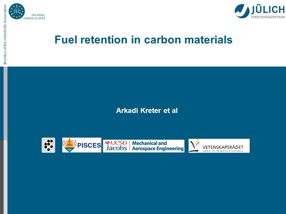 Member of the Helmholtz Association Fuel retention in carbon materials Arkadi Kreter et al