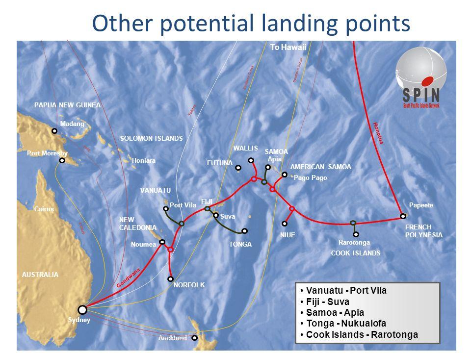 21SPIN Ltd copyright 2007 © APNG-2 Southern Cross Cairns Port Moresby Honiara WALLIS SOLOMON ISLANDS PAPUA NEW GUINEA NEW CALEDONIA FIJI AUSTRALIA NIU