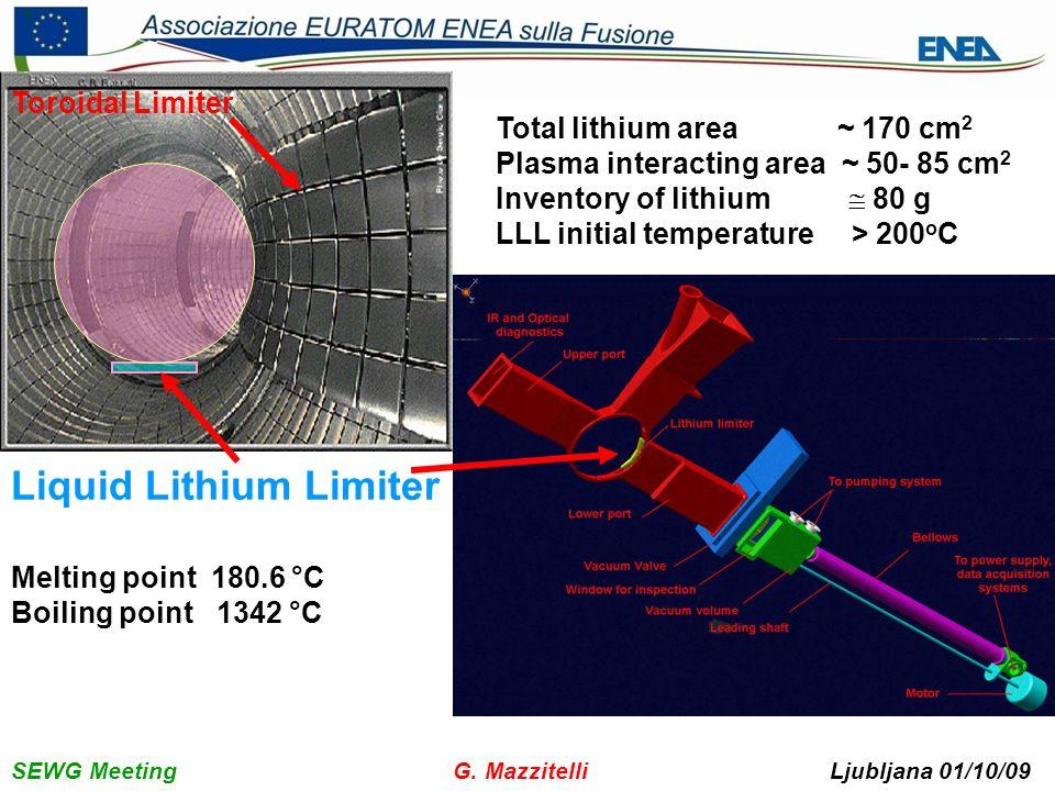 SEWG Meeting G. Mazzitelli Ljubljana 01/10/09 8 2. Experimental Results