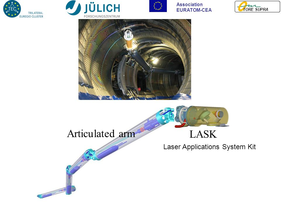 TORE SUPRA Association EURATOM-CEA LASK Articulated arm Laser Applications System Kit