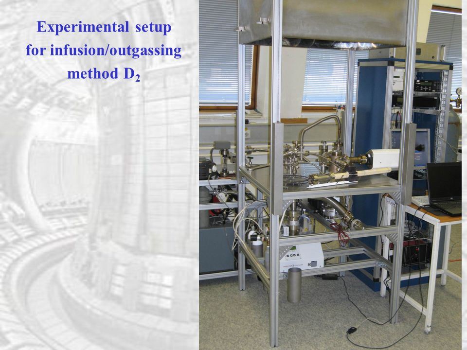 Experimental setup for infusion/outgassing method D 2