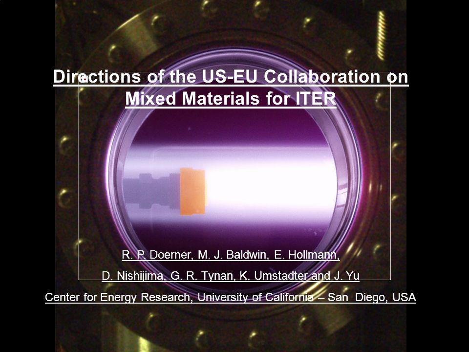 R.Doerner, 8 th EU PWI Task Force Meeting, Warsaw, Poland, Nov.