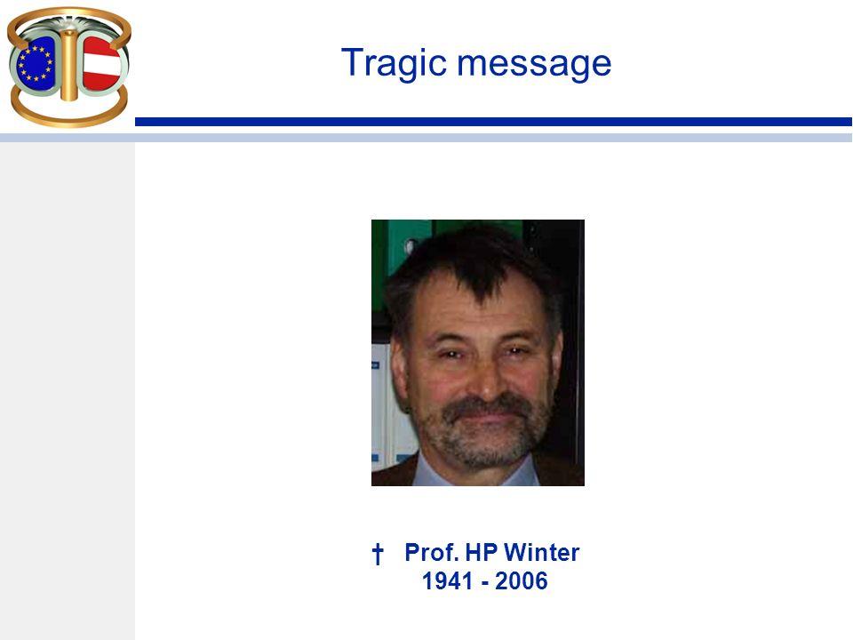 Tragic message Prof. HP Winter 1941 - 2006