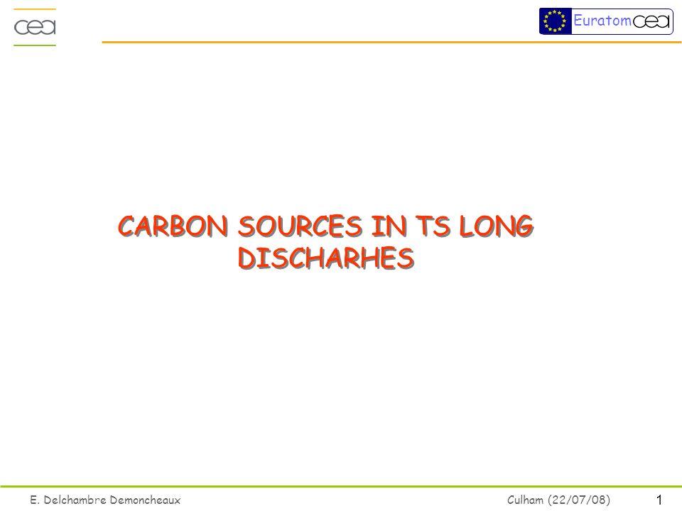 1 E. Delchambre Demoncheaux Culham (22/07/08) Euratom CARBON SOURCES IN TS LONG DISCHARHES