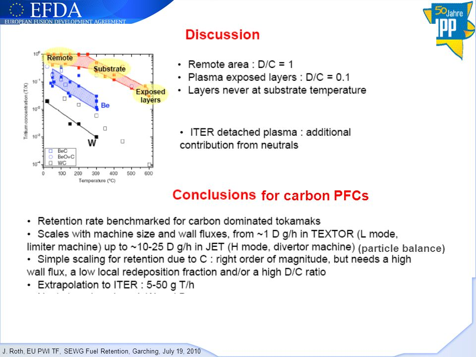 for carbon PFCs (particle balance)
