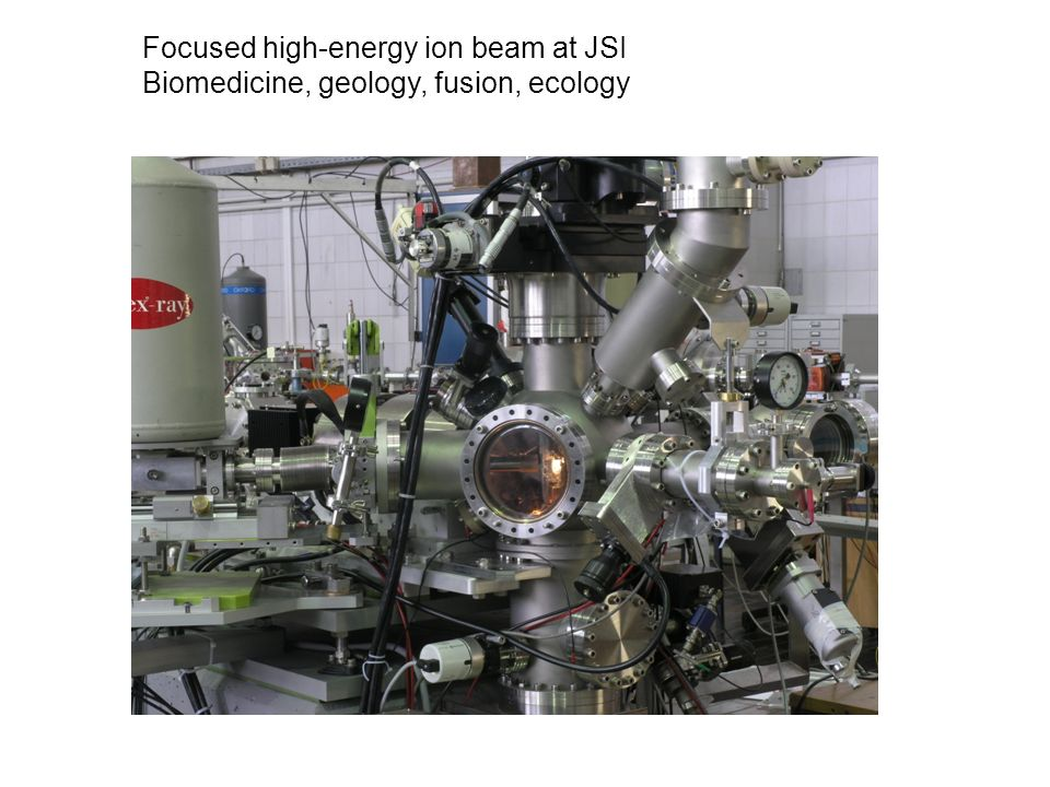 Focused high-energy ion beam at JSI Biomedicine, geology, fusion, ecology