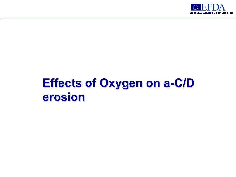 Effects of Oxygen on a-C/D erosion