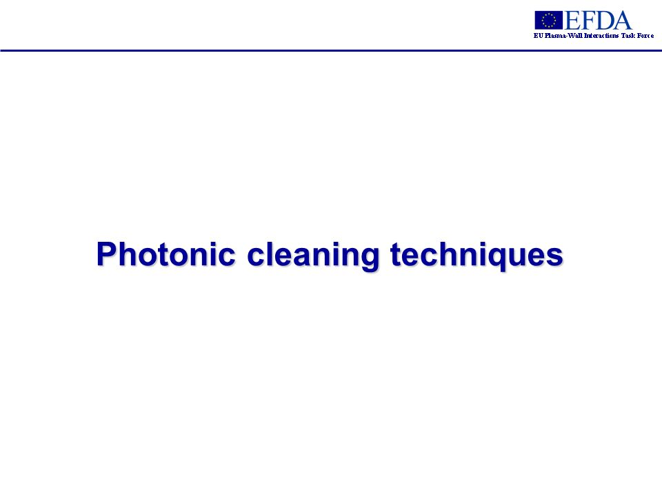 Photonic cleaning techniques