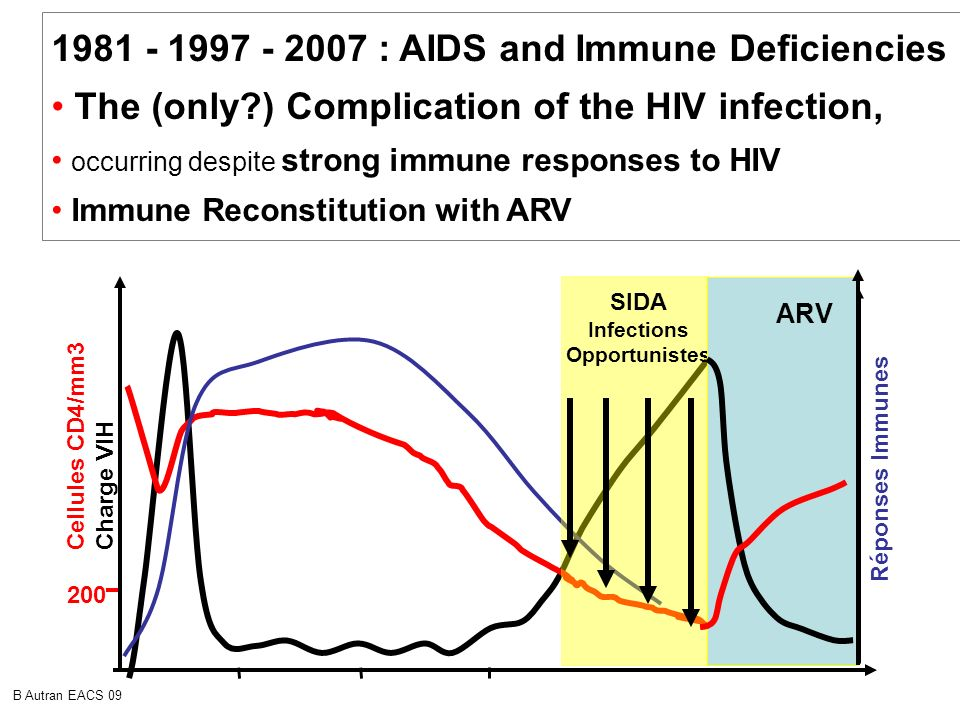 1981 - 1997 - 2007 : AIDS and Immune Deficiencies : The (only?) Complication of the HIV infection, occurring despite strong immune responses to HIV Im