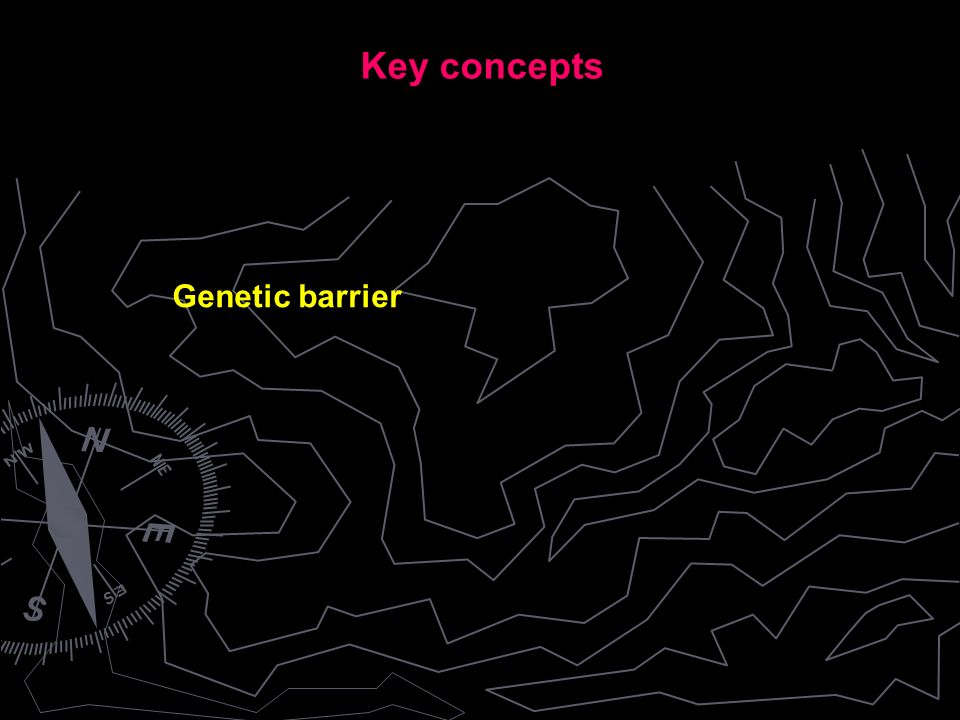 Genetic barrier Key concepts