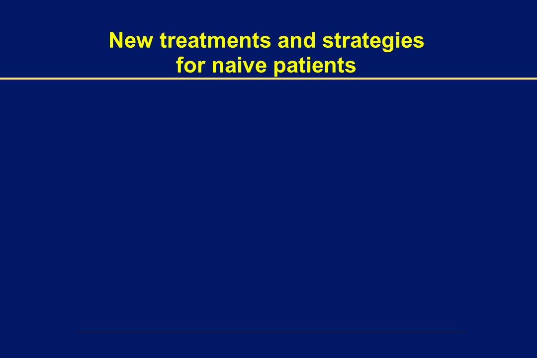00002-E-14 – 1 December 2003 New treatments and strategies for naive patients