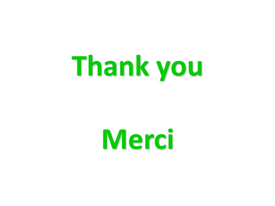 Thank you Merci