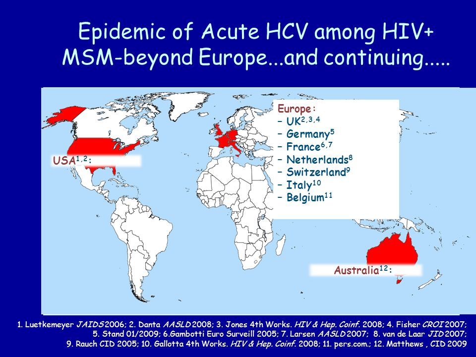 Epidemic of Acute HCV among HIV+ MSM-beyond Europe...and continuing.....