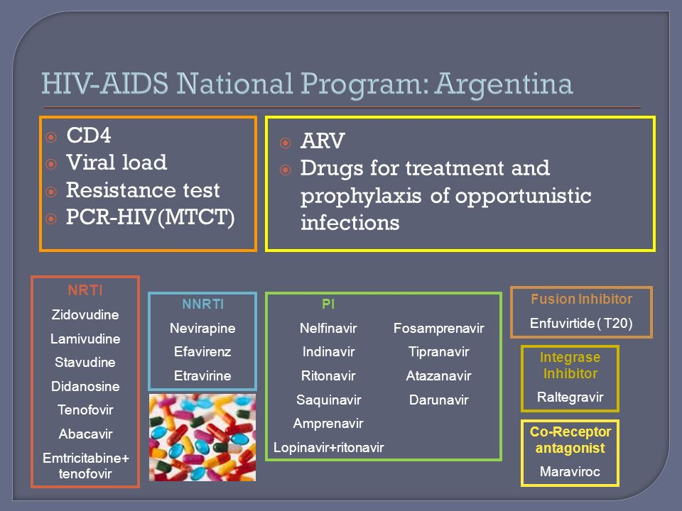 CD4 Viral load Resistance test PCR-HIV(MTCT) ARV Drugs for treatment and prophylaxis of opportunistic infections NRTI Zidovudine Lamivudine Stavudine