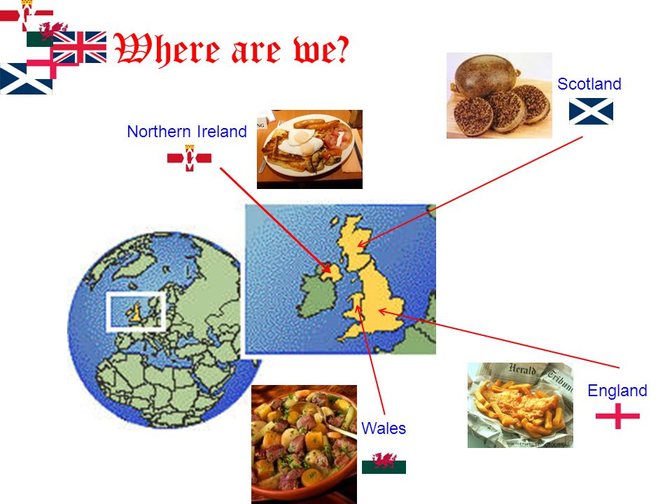 Where are we Northern Ireland Scotland Wales England