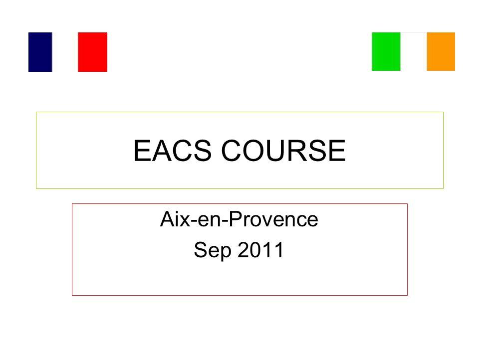 EACS COURSE Aix-en-Provence Sep 2011