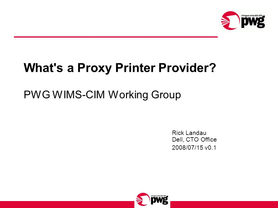 What s a Proxy Printer Provider.