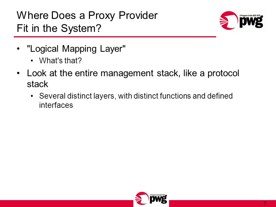 7 Where Does a Proxy Provider Fit in the System?