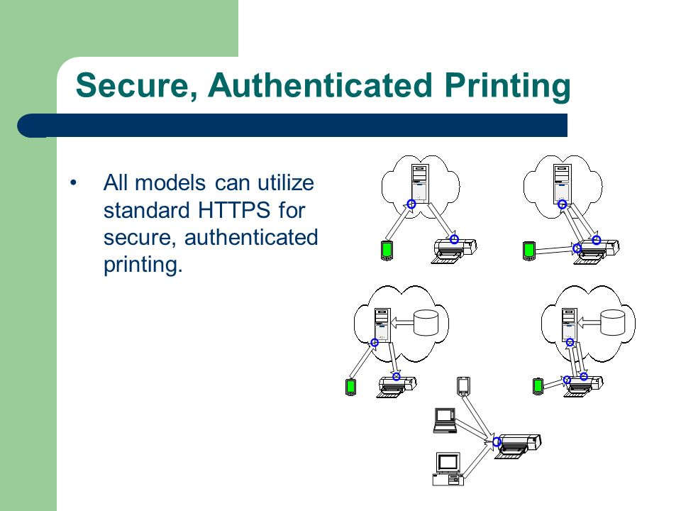 Secure, Authenticated Printing All models can utilize standard HTTPS for secure, authenticated printing.