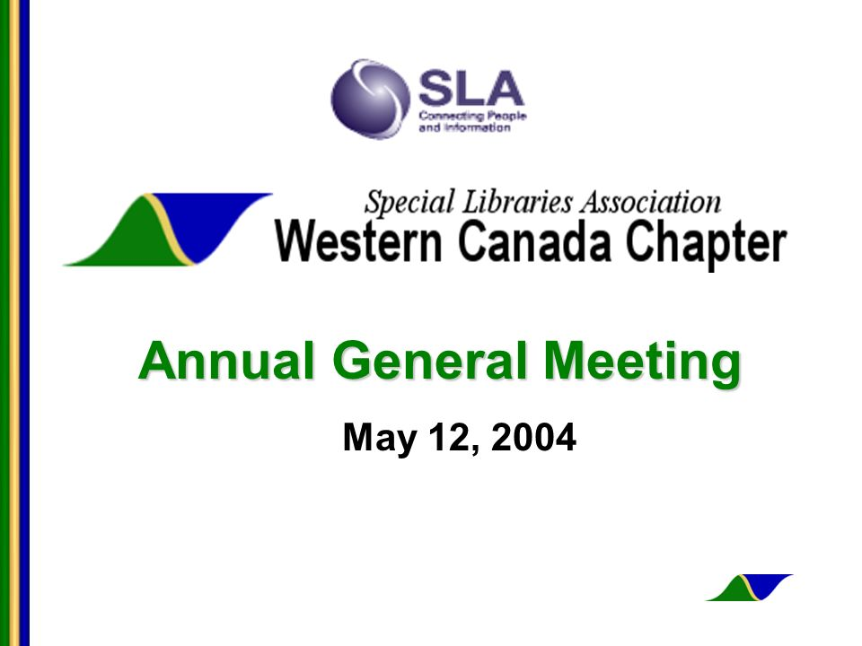 Annual General Meeting May 12, 2004