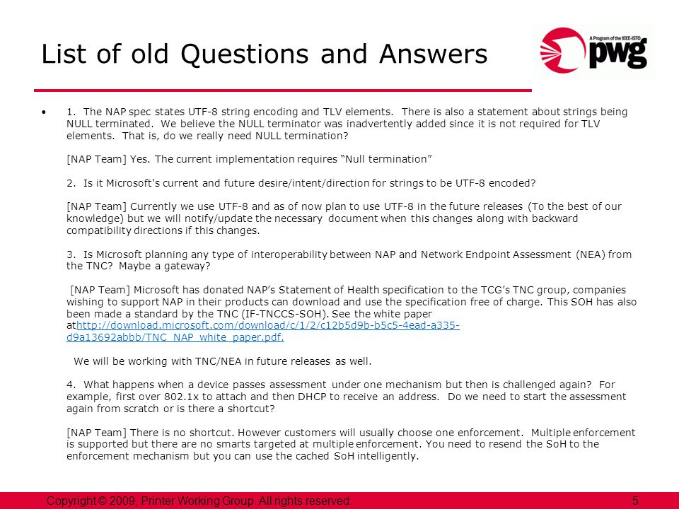 List of old Questions and Answers 5.