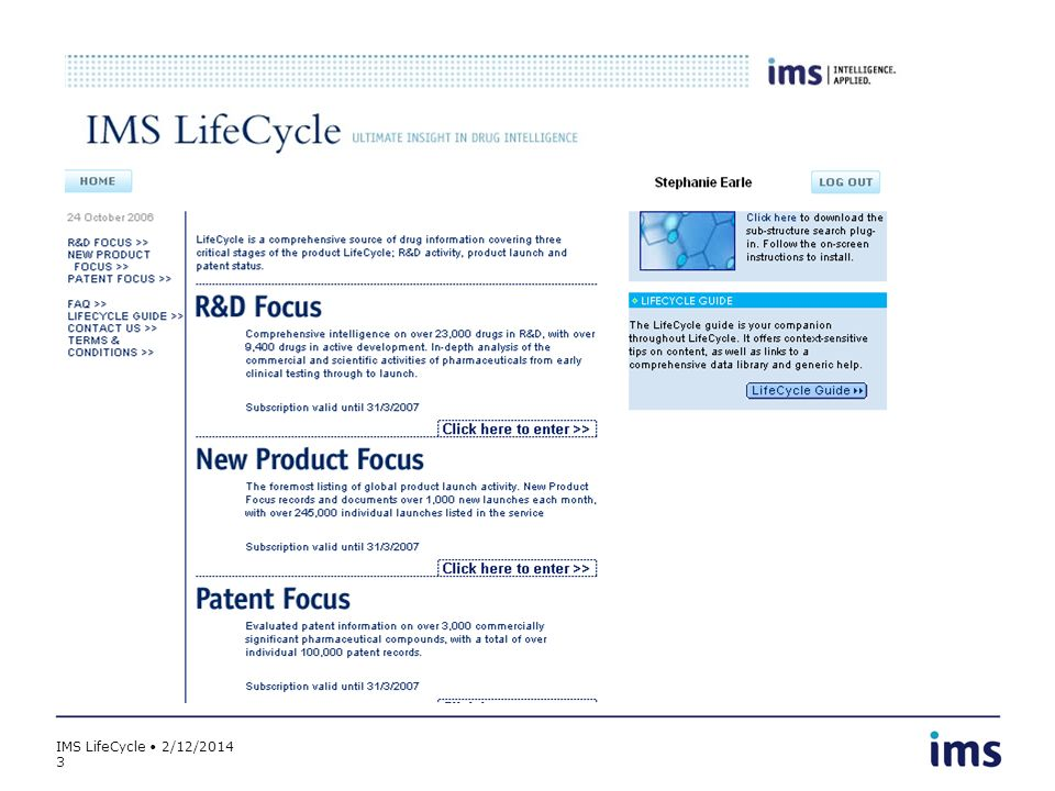 IMS LifeCycle 2/12/2014 3