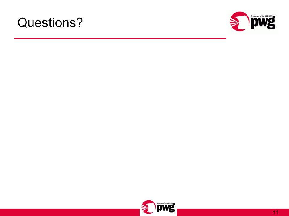 11 Questions?