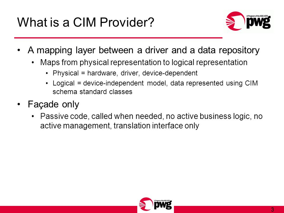 3 What is a CIM Provider.