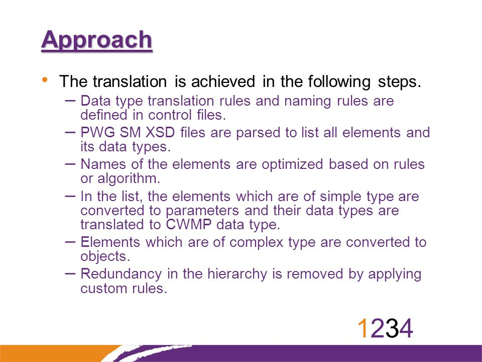 12341234 Approach The translation is achieved in the following steps.