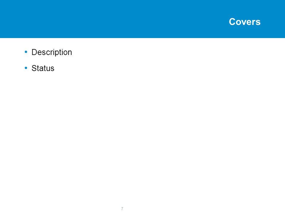 7 Covers Description Status