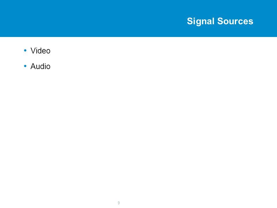 9 Signal Sources Video Audio