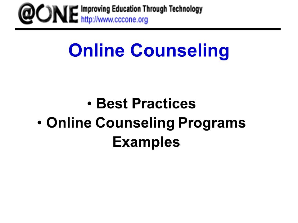 Online Counseling Best Practices Online Counseling Programs Examples