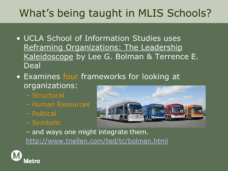 Whats being taught in MLIS Schools.