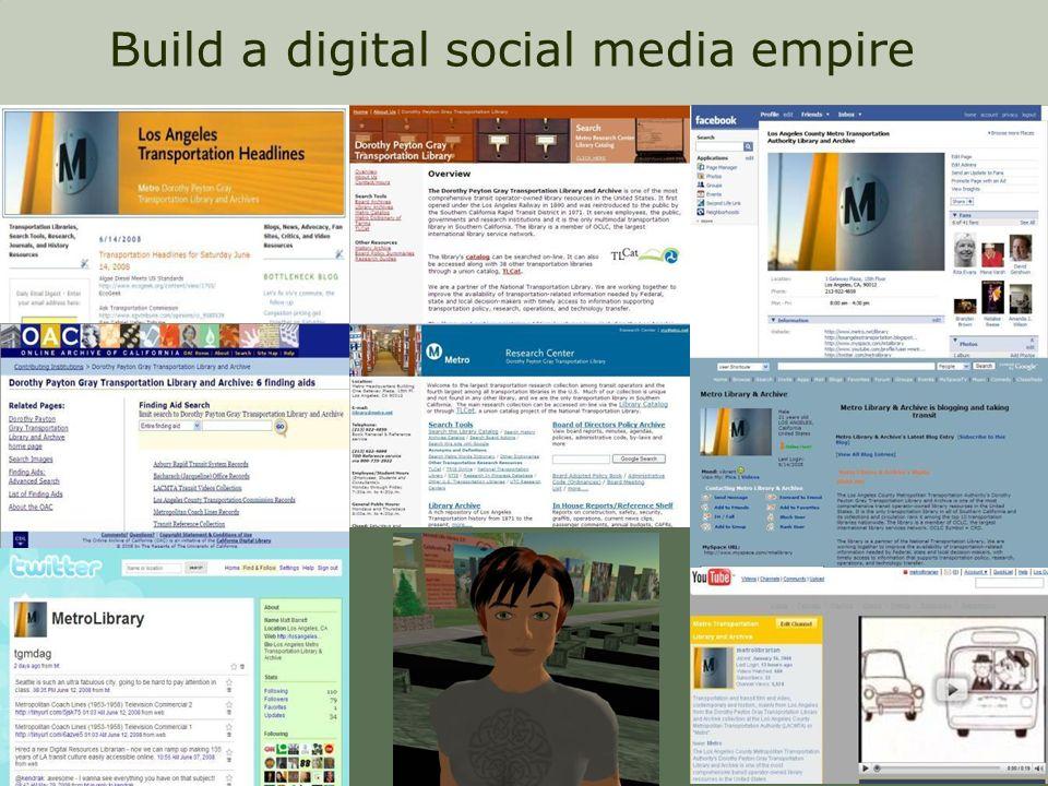 Build a digital social media empire