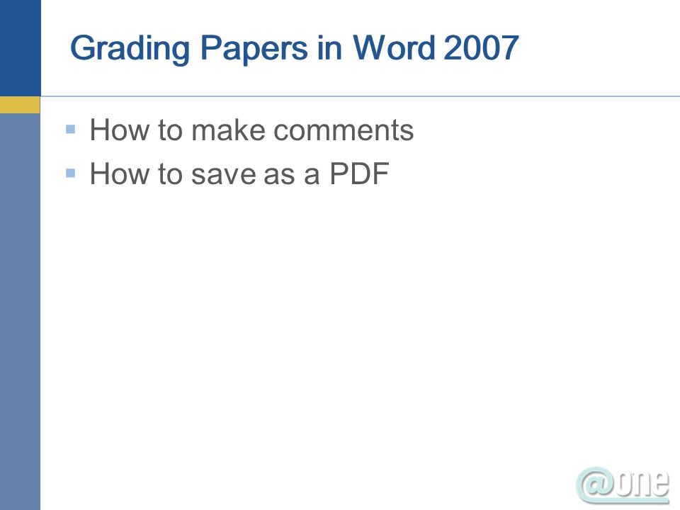 How to make comments How to save as a PDF