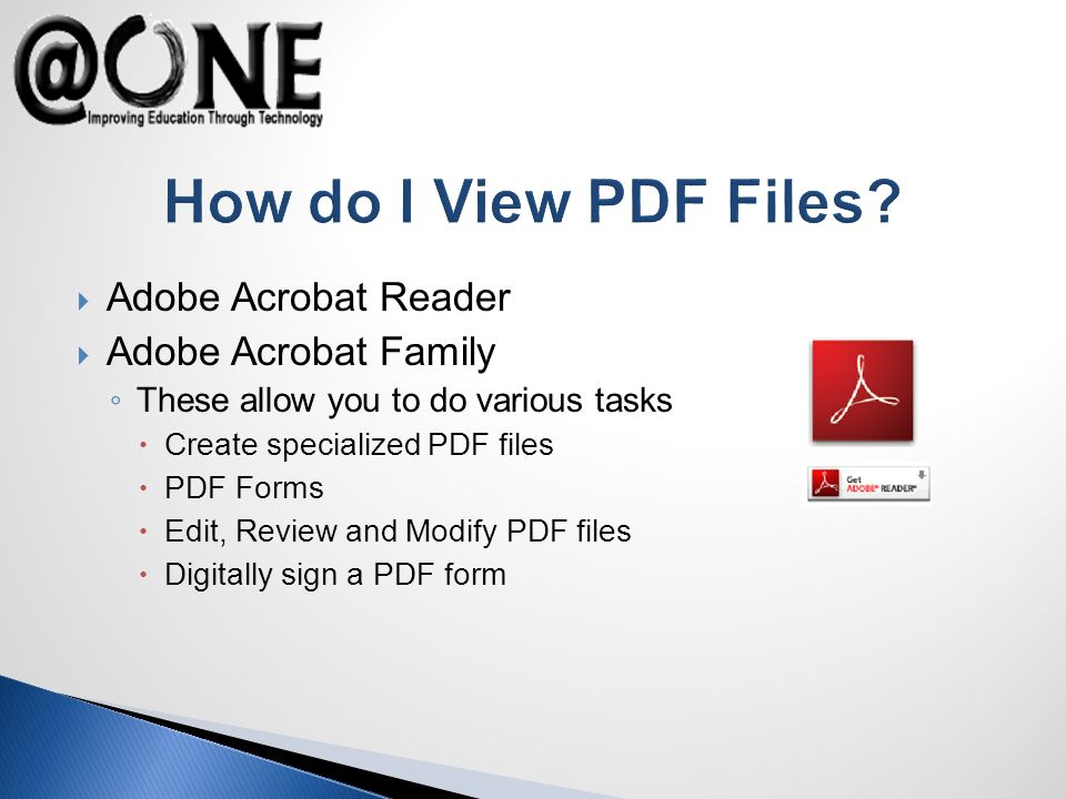How do I View PDF Files.