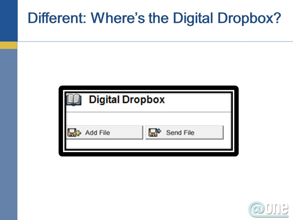 Different: Wheres the Digital Dropbox?