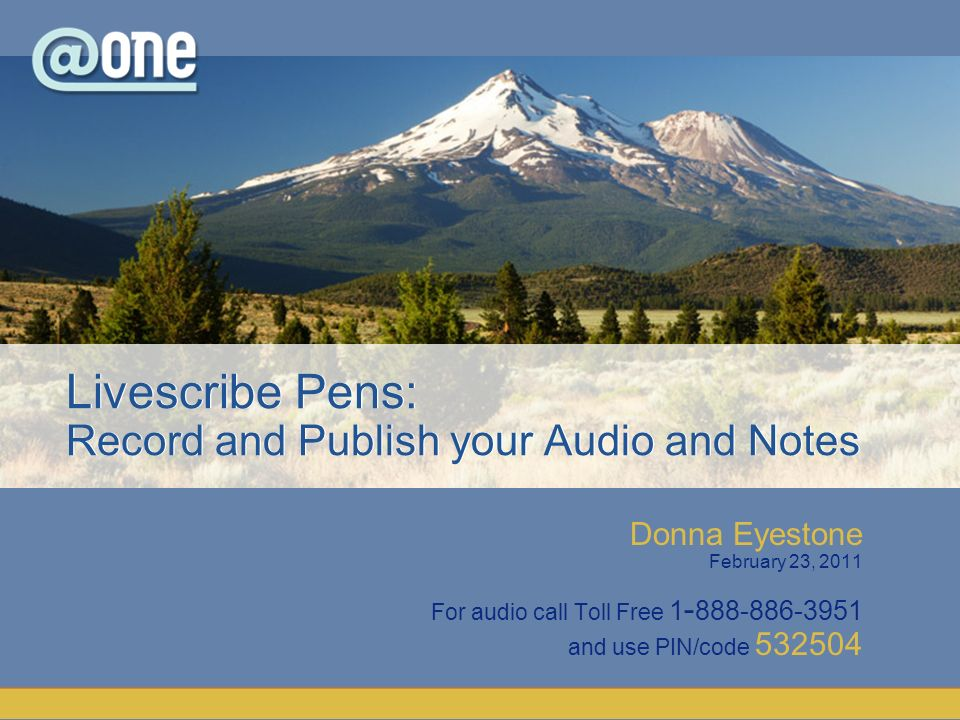 Donna Eyestone February 23, 2011 For audio call Toll Free 1 - 888-886-3951 and use PIN/code 532504