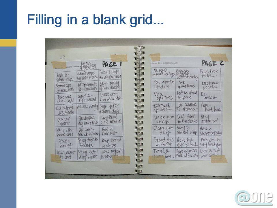 26 Filling in a blank grid...