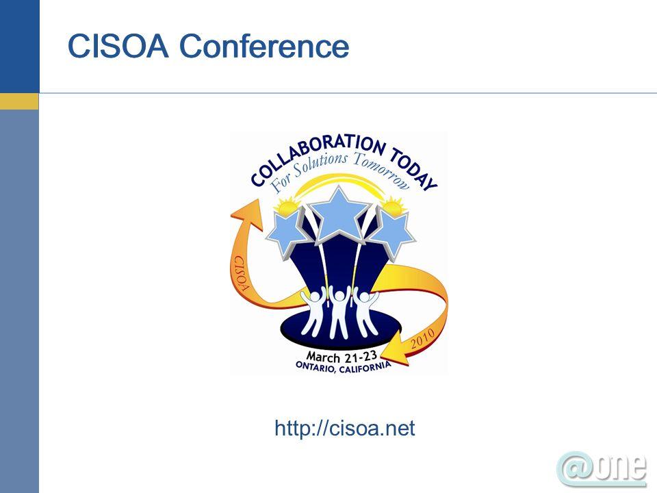 CISOA Conference http://cisoa.net