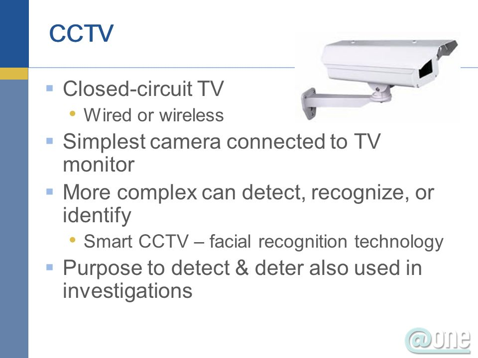 Monitor physical access CCTV especially in cash collection sites Log access Access control devices can log who gained access Netbotz (example not an endorsement) Detect and respond to incidents 18